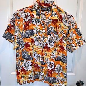 Boy's SZ XL PINEAPPLE CONNECTION Hawaiian Shirt